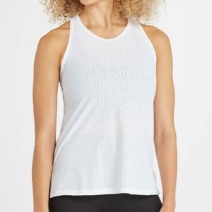 SPANX Perforated Active Tank in White SZ 1X EUC